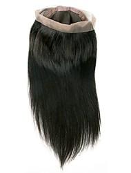 abordables -Cheveux Brésiliens 360 frontal Droit Partie gratuite Dentelle Suisse Cheveux humains Femme Meilleure qualité / Nouvelle arrivee / 100% vierge Noël / Regalos de Navidad / Mariage