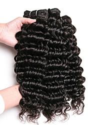 cheap -3 Bundles Peruvian Hair Deep Wave Human Hair Unprocessed Human Hair Wig Accessories Headpiece Natural Color Hair Weaves / Hair Bulk 8-28 inch Natural Color Human Hair Weaves Fashionable Design Smooth