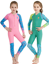 cheap -Dive&Sail Girls' Rash Guard Dive Skin Suit Spandex Diving Suit UV Sun Protection Breathable Quick Dry Full Body Front Zip - Swimming Snorkeling Watersports Cartoon Spring, Fall, Winter, Summer