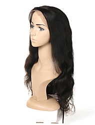 cheap -Human Hair Full Lace Wig Asymmetrical style Malaysian Hair Body Wave Black Wig 130% 150% 180% Density with Baby Hair Odor Free Woven New Arrival Fashion Women's Medium Length Human Hair Lace Wig