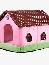 cheap -Rodents Dog Rabbits Beds Tent Cave Bed Pet House Solid Colored Portable Tent Fabric 48,40,40 cm