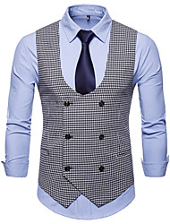 cheap -Cotton / Polester / Cotton Blend Business / Wedding Party Work / Casual Houndstooth / Classic / Vintage