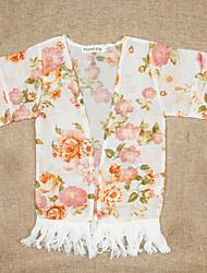 cheap -Kids Girls' Basic Daily Solid Colored Print Long Sleeve Regular Jacket & Coat Beige