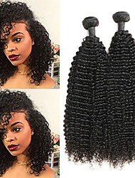 cheap -2 Bundles Indian Hair Kinky Curly Human Hair Human Hair Extensions 8-26 inch Human Hair Weaves Soft Best Quality New Arrival Human Hair Extensions / 8A