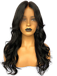 cheap -Unprocessed Human Hair Lace Front Wig Side Part style Brazilian Hair Wavy Black Wig 150% Density with Baby Hair Natural New Thick Comfortable Women's Long Human Hair Lace Wig Premierwigs