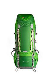 Недорогие -60 L Заплечный рюкзак Дышащий Ультралегкий (UL) Офис Высокая емкость На открытом воздухе Пешеходный туризм Путешествия 75 гр / м2 полиэфирная эластичная ткань Красный Зеленый Синий