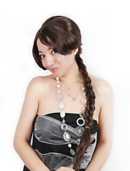cheap -Cosplay Costume Wig Synthetic Wig Cosplay Wig Straight Braid Wig Very Long Dark Brown#2 Synthetic Hair 30 inch Women's Fashionable Design Cosplay Women Dark Brown