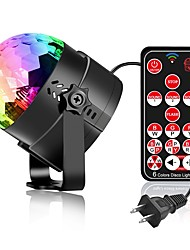 cheap -YouOKLight 1pc 6 W 4 LED Beads Remote Control / RC LED Stage Light / Spot Light RGB 85-265 V Home / Office