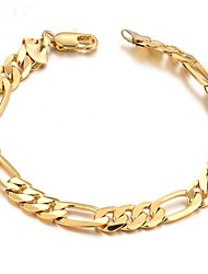 cheap -Men's Chain Bracelet Stylish Creative Fashion 18K Gold Plated Bracelet Jewelry Gold For Daily Date
