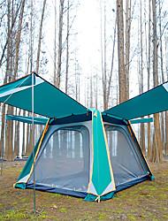 Недорогие -TANXIANZHE® 8 человек Палатка с экраном от солнца Дом с экраном от солнца На открытом воздухе С защитой от ветра Устойчивость к УФ Дожденепроницаемый Двухслойные зонты Автоматический Палатка