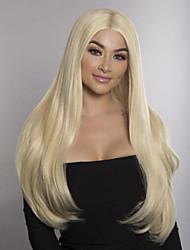 cheap -Virgin Human Hair Full Lace Wig Bob Free Part Minaj style Brazilian Hair Straight Blonde Wig 150% Density 12-24 inch with Baby Hair Bleached Knots Women's Medium Length Long Human Hair Lace Wig