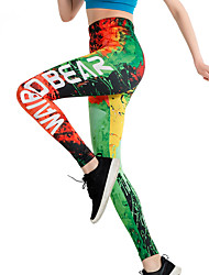 cheap -Activewear Pants Pattern / Print Gore Women's Training Performance High Elastic Charmeuse