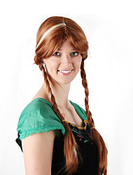 cheap -Cosplay Costume Wig Synthetic Wig Anna Straight Wig Long Brown Synthetic Hair 30 inch Women's Anime Cosplay Women Brown