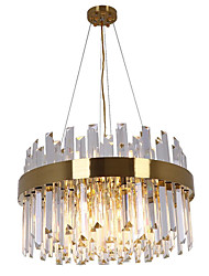 cheap -12 Bulbs 50 cm Chandelier Metal Electroplated Modern 110-120V / 220-240V