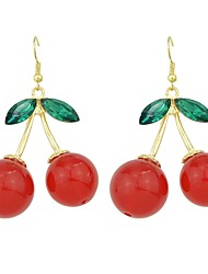 cheap -Women's Drop Earrings Stylish Cherry Lucky Ladies Basic Fashion Earrings Jewelry Red For Daily Date 1 Pair