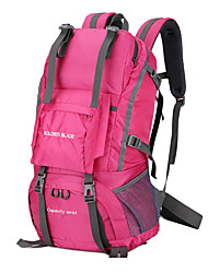cheap -50 L Hiking Backpack Breathable Rain Waterproof Outdoor Hiking Camping Travel Nylon Black Red Pink / Yes