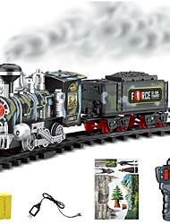 Недорогие -Игрушечные поезда и наборы Поезд Шлейф Пульт управления моделирование утонченный Пластиковые & Металл Дети Все Игрушки Подарок 1 pcs / Взаимодействие родителей и детей