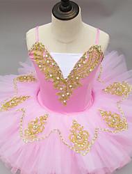 cheap -Ballet Tutus Ruching Girls' Performance Sleeveless Spandex