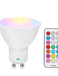 cheap -1pc 5 W LED Spotlight 200-300 lm GU10 1 LED Beads COB Dimmable Remote-Controlled RGBW RGBWW 85-265 V