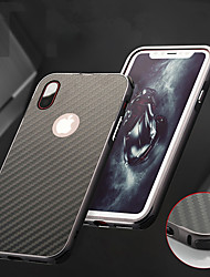 cheap -Case For Apple iPhone X / iPhone 8 Plus / iPhone 8 Shockproof / Plating Back Cover Solid Colored Hard Aluminium