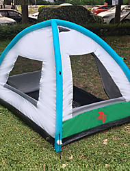 cheap -3 person AIR SECONDS CAMPING TENT Outdoor Lightweight UV Resistant Rain Waterproof Double Layered Automatic Camping Tent 1500-2000 mm for Fishing Beach Camping / Hiking / Caving Oxford Cloth