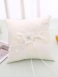 cheap -Fabrics Lace / Crystal / Rhinestone Satin Ring Pillow Beach Theme / Garden Theme / Butterfly Theme All Seasons