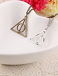 cheap -Men's Pendant Necklace Chain Necklace Stylish Cuban Link Creative Stylish Geometric Trendy Alloy Ancient Bronze Gold Silver 45 cm Necklace Jewelry 1pc For Daily Street