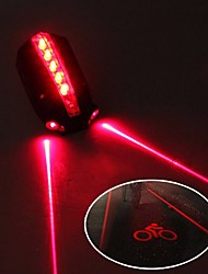 cheap -Laser Bike Light Rear Bike Tail Light Safety Light Mountain Bike MTB Bicycle Cycling Waterproof Adjustable Cool Quick Release 50 lm 2 AAA Batteries Red Cycling / Bike / IPX 6