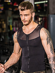 cheap -Men's See Through Front Zipper Mesh Compression Tank Top Fitness Gym Workout Workout Breathable Quick Dry Compression Sportswear Compression Clothing Top Sleeveless Activewear High Elasticity