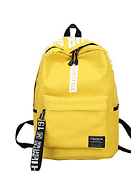 cheap -School Bag / Commuter Backpack Unisex Canvas Zipper School Red / Yellow / Green / Black-white