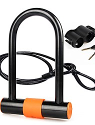 cheap -INBIKE Bike U Lock Cycling Locking Security Durable Easy to Install Safety For Road Bike Mountain Bike MTB Motobike / Motorcycle Folding Bike Cycling Bicycle Copper Steel ABS Black Orange