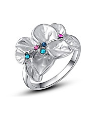 cheap -Ring Crystal Stylish Silver Chrome Flower Ladies Artistic Colorful 1pc 6 7 8 / Women's