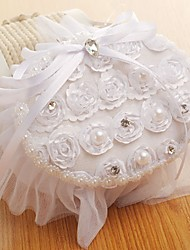 cheap -Fabrics Imitation Pearl / Lace / Sashes / Ribbons Satin Ring Pillow Beach Theme / Garden Theme / Butterfly Theme All Seasons