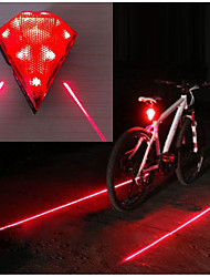cheap -Laser LED Bike Light Rear Bike Tail Light Safety Light Mountain Bike MTB Bicycle Cycling Waterproof Multiple Modes Super Bright Portable 14500 20 lm Rechargeable USB Red Camping / Hiking / Caving