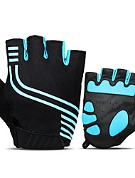 cheap -INBIKE Bike Gloves / Cycling Gloves Mountain Bike Gloves Mountain Bike MTB Breathable Anti-Slip Sweat-wicking Protective Fingerless Gloves Half Finger Sports Gloves Mesh Black Blue for Adults'