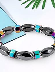cheap -Women's Black Gemstone Bead Bracelet Bracelet Stylish Creative Ladies Unique Design Elegant Romantic Alloy Bracelet Jewelry Black For Birthday Daily