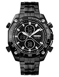 cheap -SKMEI Men's Sport Watch Military Watch Digital Watch Digital Luxury Alarm Stainless Steel Black / Silver / Gold Analog - Digital - Golden Black / Silver White / Silver One Year Battery Life