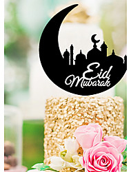 cheap -Cake Topper Religious Religious Plastic Special Occasion with Acrylic 1 pcs PVC Bag