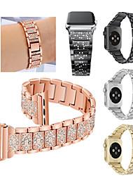 Недорогие -Ремешок для часов для Fitbit Blaze / Серия Apple Watch 5/4/3/2/1 Apple Спортивный ремешок Нержавеющая сталь Повязка на запястье