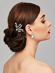 cheap -Pearl Headwear / Hair Clip / Hair Stick with Floral 1pc Wedding / Special Occasion Headpiece / Hair Pin