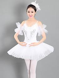 cheap -Ballet Tutus Ruching Women's Performance Sleeveless Spandex