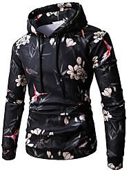 cheap -Men's Pullover Hoodie Sweatshirt Graphic Casual Hoodies Sweatshirts  Black
