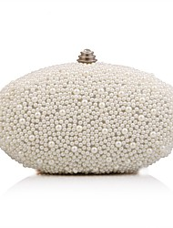cheap -Women's Bags Polyester / Alloy Evening Bag Pearls Crystals for Wedding / Party / Event / Party White / Beige / Rhinestone Crystal Evening Bags