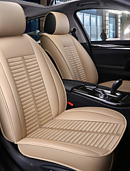 cheap -5 seats Beige Four Seasons Car seat Full cover for Five seat car/PU Leather Material/Airbag compatibility/Adjustable and Removable/Family car/SUV