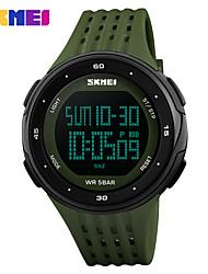 Недорогие -SKMEI Муж. Спортивные часы электронные часы Цифровой Стеганная ПУ кожа Красный / Цвет клевера 50 m Защита от влаги Будильник Календарь Цифровой На каждый день Мода - Красный Зеленый / Один год