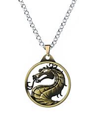 cheap -Men's Pendant Necklace Stylish Rope Totem Series Dragon Anime Cartoon Guro Lolita Alloy Bronze Silver Gray 62 cm Necklace Jewelry 1pc For Masquerade Club