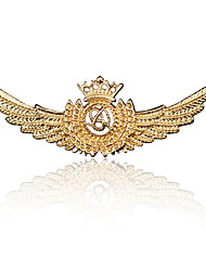 cheap -Men's Cubic Zirconia Brooches Vintage Style Stylish Wings Medal Statement Vintage Fashion Imitation Diamond Brooch Jewelry Bronze Gold Silver For Daily Holiday