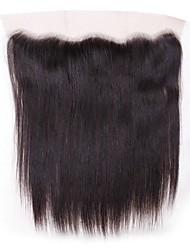 abordables -Cheveux Malaisiens 4x13 Fermeture Droit Dentelle Suisse Cheveux humains Femme Meilleure qualité / 100% vierge / Fermeture de dentelle Noël / Regalos de Navidad / Mariage