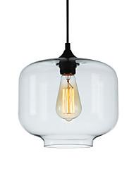 cheap -1-Light 24 cm Pendant Light Glass Glass Circle / Globe / Linear Globe / Modern 110-120V / 220-240V