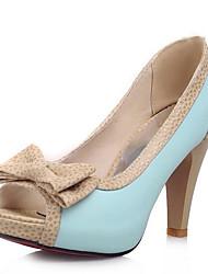 cheap -Women's Heels Stiletto Heel PU Basic Pump Summer Black / White / Blue / Daily